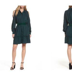 Eliza J cold shoulder shirt dress